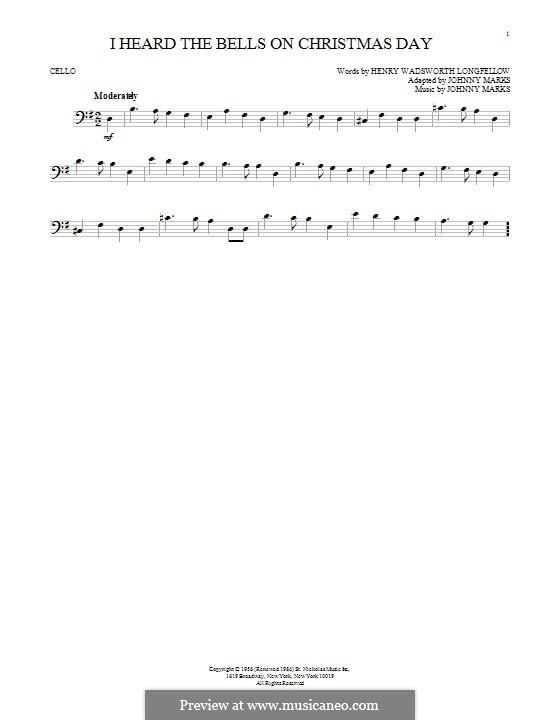 I Heard the Bells on Christmas Day: Для виолончели by Johnny Marks