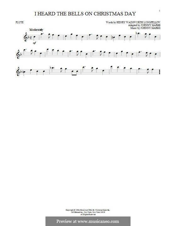 I Heard the Bells on Christmas Day: Для флейты by Johnny Marks