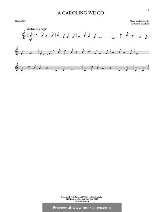 A Caroling We Go: Для трубы by Johnny Marks