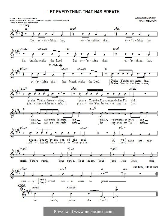 Let Everything That Has Breath: Мелодия by Matt Redman