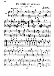 School of Virtuosos, Op.365: Exercises No.45-60 by Карл Черни
