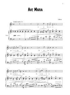 Ave Maria: Для голоса и фортепиано by Жорж Бизе