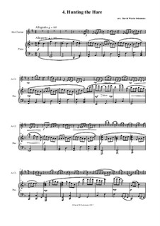 No.4 Hunting the Hare: For alto clarinet and piano by folklore, Дэвид Соломонс