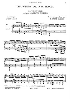 Wir danken dir, Gott, wir danken dir, BWV 29: Аранжировка для фортепиано by Иоганн Себастьян Бах