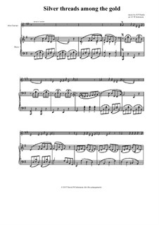 Серебряные нити среди золота: For alto clarinet and piano by Харт Пиз Данкс