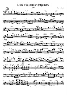 Etude Hello mr. Montgomery, Op.1: Etude Hello mr. Montgomery by Ivanandajazz