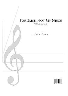 К Элизе, WoO 59: Вокальная партитура by Людвиг ван Бетховен