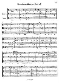 Sancta Maria: Sancta Maria by Джон Данстейбл