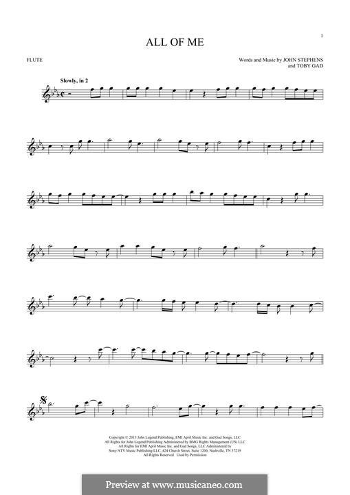 All of Me: Для флейты by John Stephens, Tobias Gad