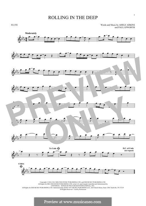 Vocal-instrumental version: Для флейты by Adele, Paul Epworth