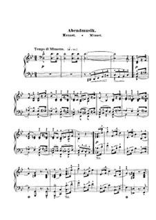 Пёстрые листки, Op.99: No.12 Abendmusik (Minuet) by Роберт Шуман