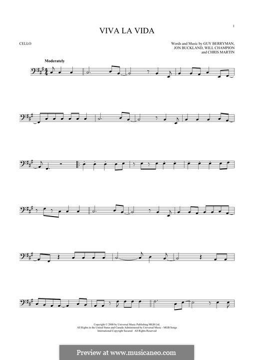 Instrumental version: Для виолончели by Chris Martin, Guy Berryman, Jonny Buckland, Will Champion