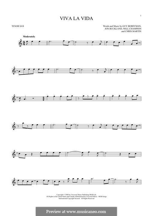 Instrumental version: Для тенорового саксофона by Chris Martin, Guy Berryman, Jonny Buckland, Will Champion