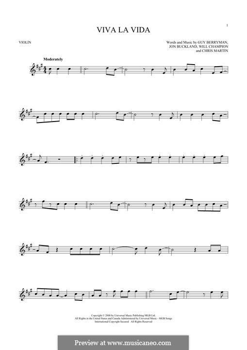 Instrumental version: Для скрипки by Chris Martin, Guy Berryman, Jonny Buckland, Will Champion
