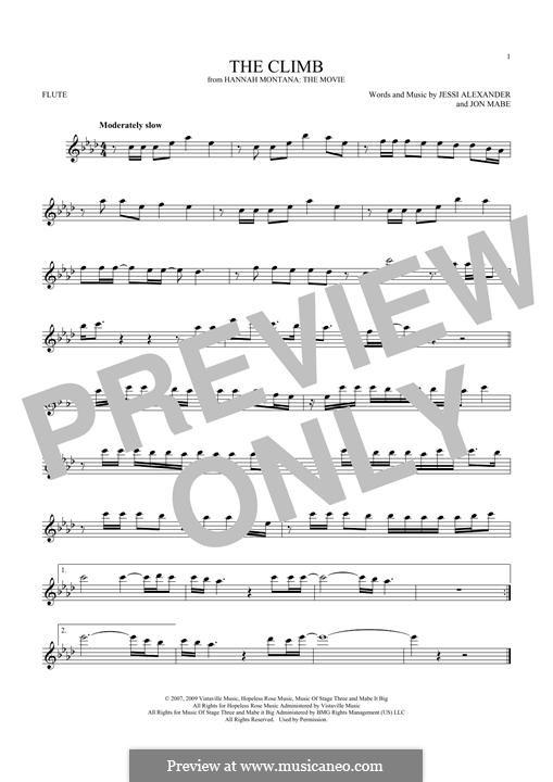 The Climb: Для флейты by Jessi Alexander, Jon Mabe