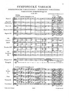 Симфонические вариации на песню 'Já jsem huslar', B.70 Op.78: Партитура by Антонин Дворжак