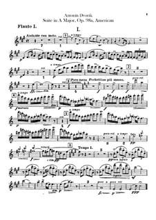 Американская сюита для оркестра, B.190 Op.98b: Партии флейт by Антонин Дворжак