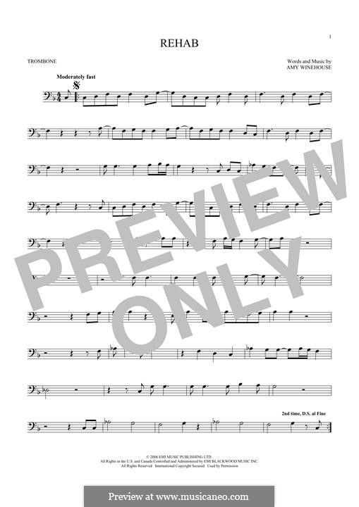 Rehab: For trombone by Amy Winehouse