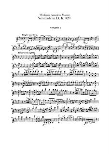 Серенада для оркестра No.9 ре мажор 'Posthorn', K.320: Партия I скрипок by Вольфганг Амадей Моцарт