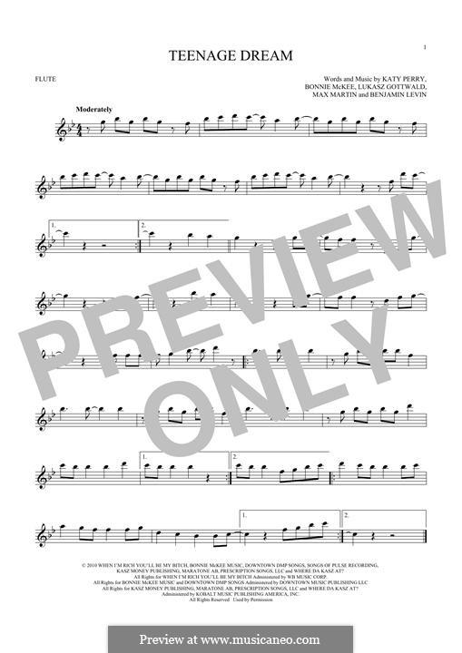 Teenage Dream: Для флейты by Benjamin Levin, Bonnie McKee, Katy Perry, Lukas Gottwald, Max Martin
