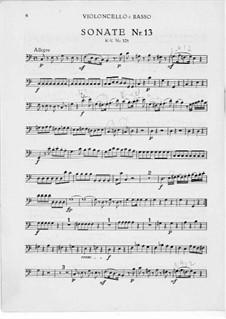 Церковная соната для двух скрипок, органа и бассо континуо No.15 до мажор, K.328 (317c): Партия бассо континуо by Вольфганг Амадей Моцарт