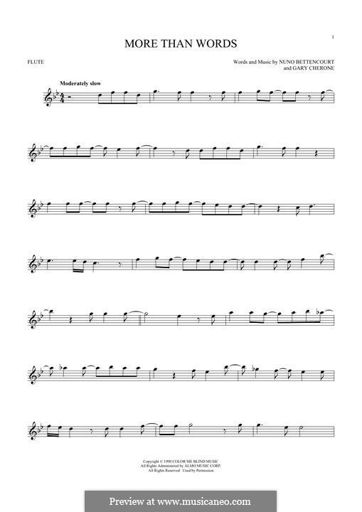 More Than Words (Extreme): Для флейты by Gary Cherone, Nuno Bettencourt