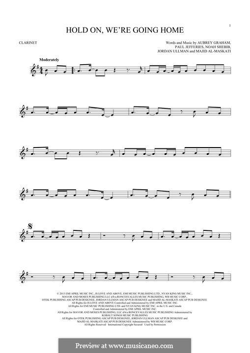 Hold On We're Going Home: Для кларнета by Aubrey Drake Graham, Noah Shebib, Anthony Paul Jefferies, Jordan Ullman, Majid Al-Maskati