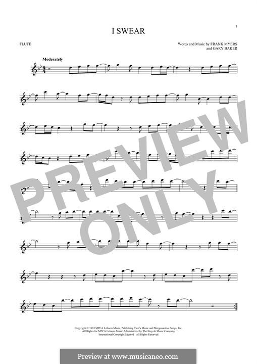 I Swear: Для флейты by Frank J. Myers, Gary Baker