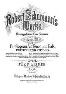 Пять песен, Op.55: Пять песен by Роберт Шуман