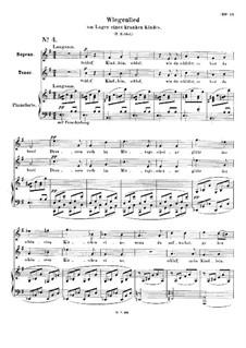 Четыре дуэта для голосов и фортепиано, Op.78: No.4 Колыбельная у постели больного ребенка by Роберт Шуман