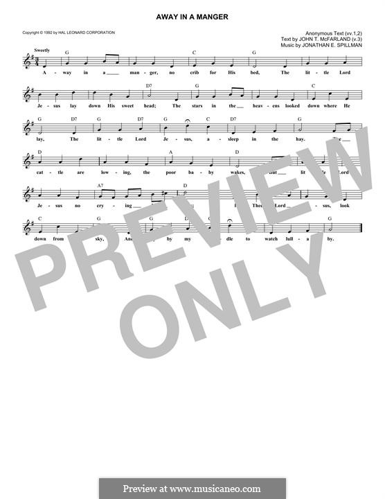 Away in a Manger: Мелодия by Джонатан Эдвардс Спилман