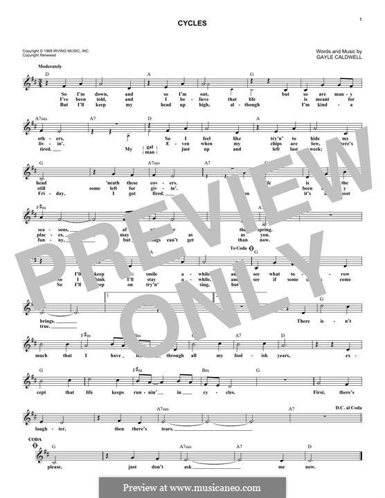 Cycles (Frank Sinatra): Мелодия by Gayle Caldwell
