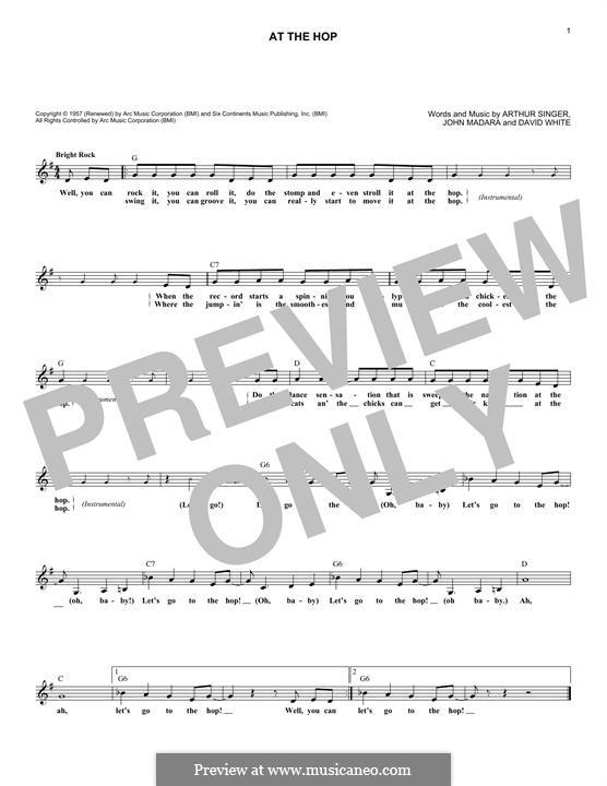 At the Hop (Danny & The Juniors): Мелодия by Arthur Singer, David White, John Medora