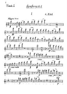 Симфония No.1 до мажор: Партия I флейты by Жорж Бизе