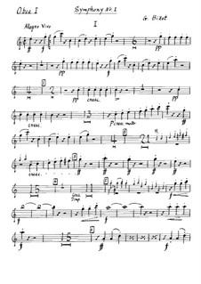 Симфония No.1 до мажор: Партия I гобоев by Жорж Бизе