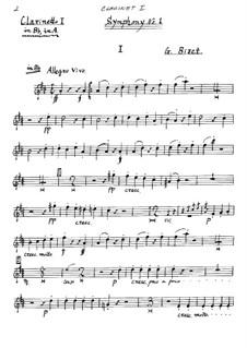 Симфония No.1 до мажор: Партия I кларнета by Жорж Бизе