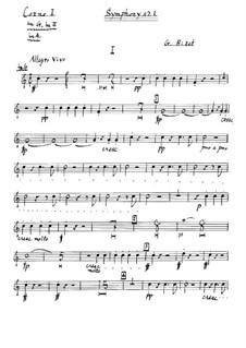 Симфония No.1 до мажор: Партия I валторны by Жорж Бизе