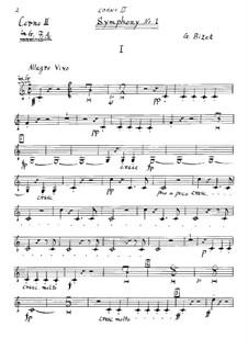 Симфония No.1 до мажор: Партия II валторны by Жорж Бизе