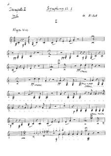 Симфония No.1 до мажор: Партия II трубы by Жорж Бизе