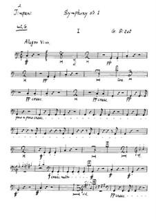 Симфония No.1 до мажор: Партия литавр by Жорж Бизе