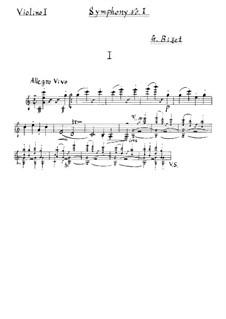 Симфония No.1 до мажор: Скрипка I by Жорж Бизе