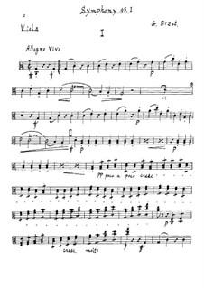 Симфония No.1 до мажор: Партия альта by Жорж Бизе