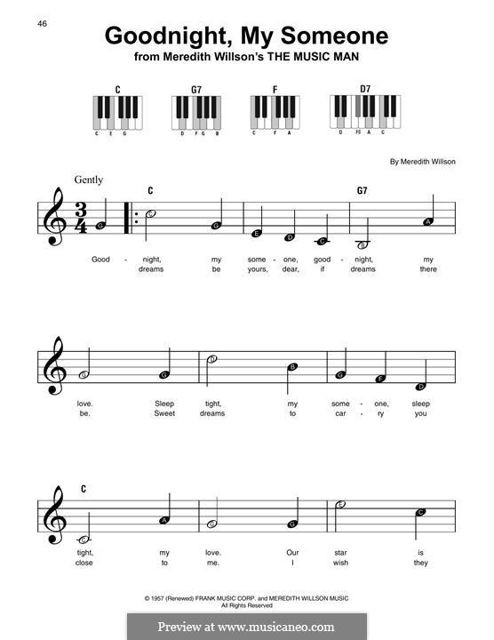 Goodnight, My Someone: Мелодия by Meredith Willson
