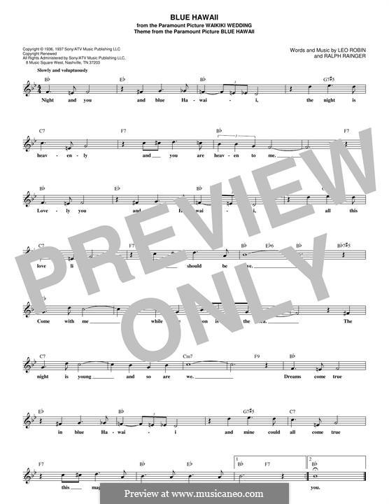 Blue Hawaii (Elvis Presley): Мелодия by Leo Robin, Ralph Rainger