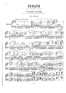 Струнный секстет No.2 соль мажор, Op.36: Версия для фортепиано by Иоганнес Брамс