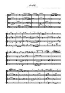 Адажио для стеклянной гармоники до мажор, K.356: For wind quartet by Вольфганг Амадей Моцарт
