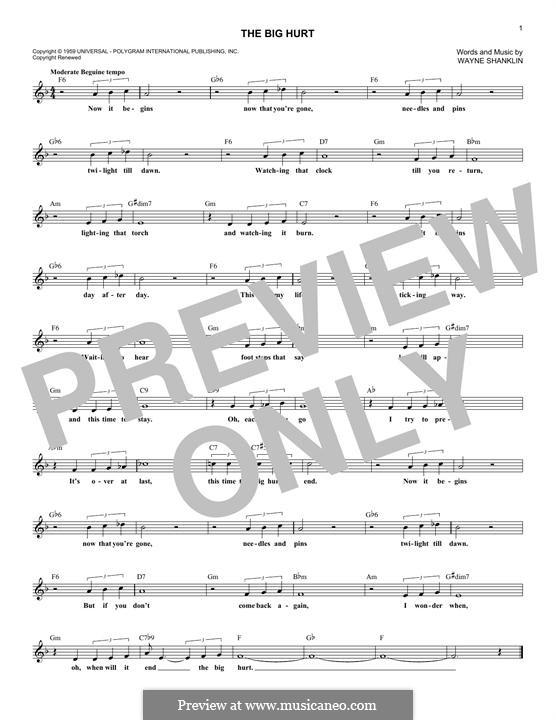 The Big Hurt: Мелодия by Wayne Shanklin