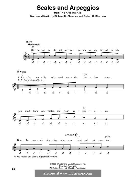 Scales and Arpeggios: For harmonica by Richard M. Sherman, Robert B. Sherman