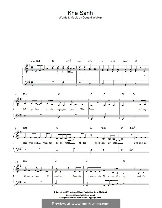 Khe Sanh (Cold Chisel): Для фортепиано by Donald Walker