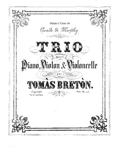 Фортепианное трио ми мажор: Партитура by Томас Бретон